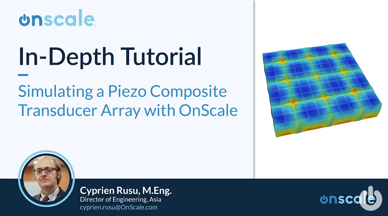 Simulating Piezocomposite Transducer Array OnScale YouTube