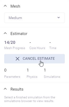 Cancel estimate