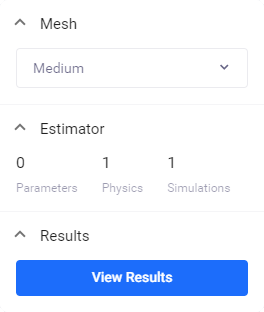 A simulation study that has been run in the properties panel