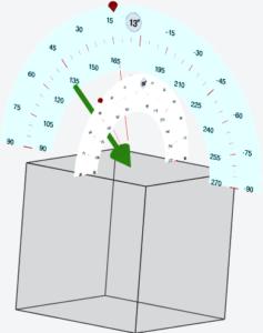 Protractors in the 3D viewer