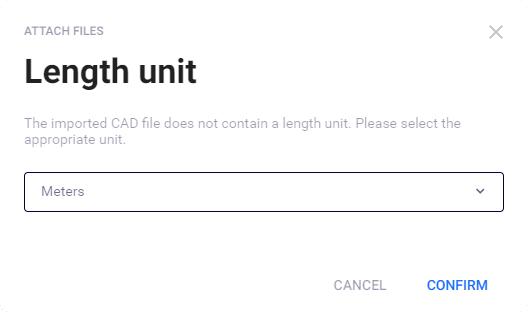 Length unit dialog