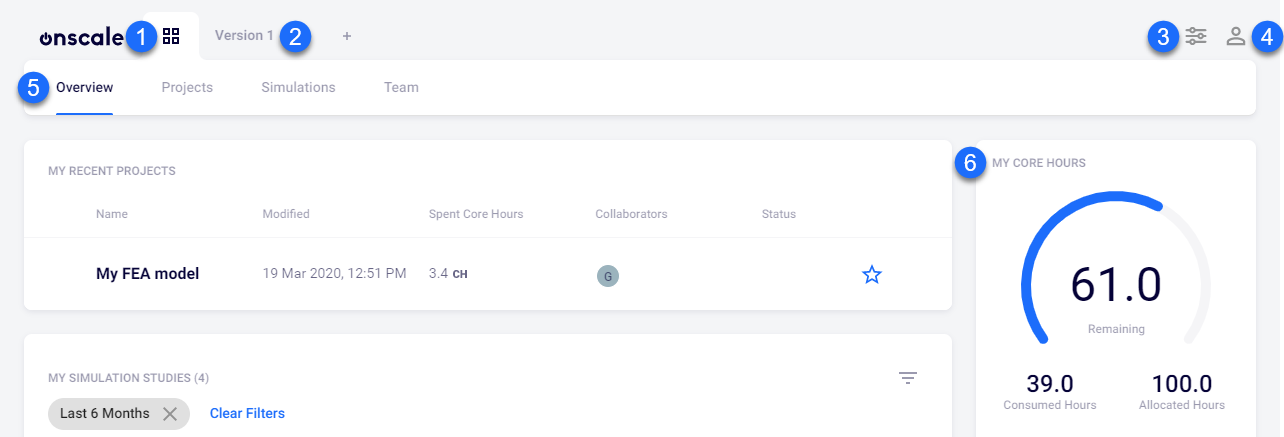 The interface of OnScale Solve