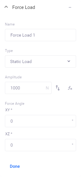 Static force load properties