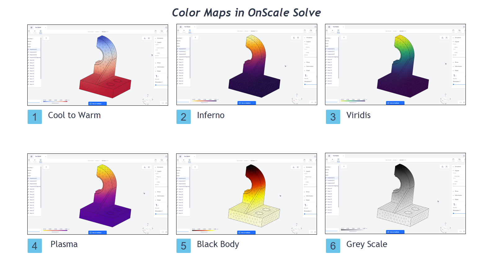 OnScale Solve Color Maps
