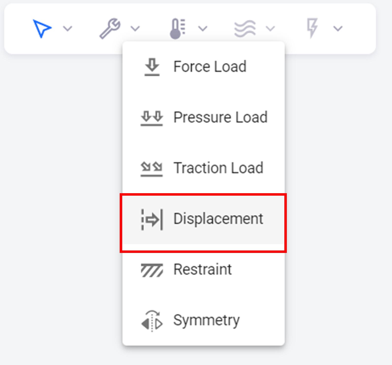 Displacement Constraint