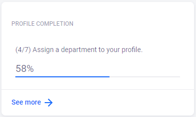 Profile completion