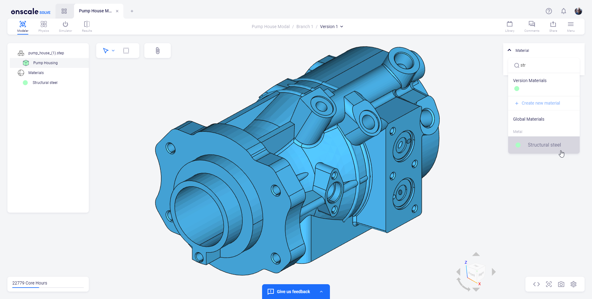 Material Library: Pump Housing Steel