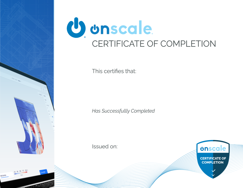 OnScale Solve Fundamentals Course Certificate